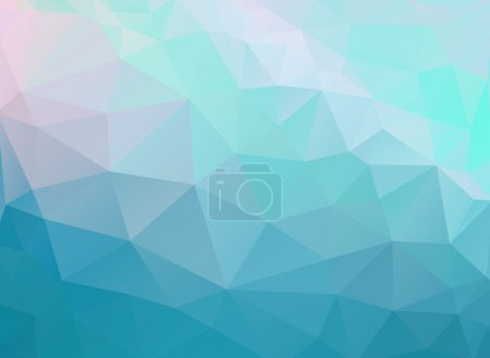 Illustration for Water, underwater, sea, sky. Abstract geometric shapes. Web and mobile interface template. Corporate website design. Minimalistic backdrop - Royalty Free Image