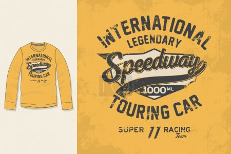 T-shirt print. Graphic design. Artwork. Speedway.