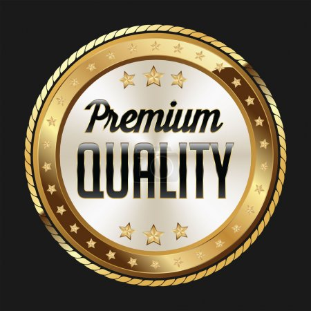 Gold and White Badge  Premium Quality.