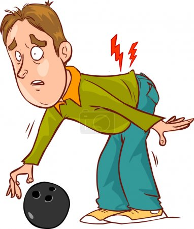 vector illustration of a backache