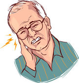 vector illustration of a earache