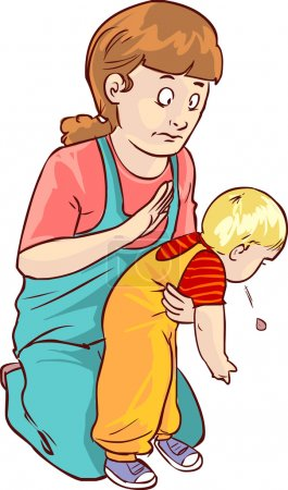 Illustration for Vector illustration of a baby first aid - Royalty Free Image