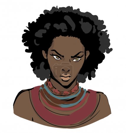 African american beautiful angry woman.