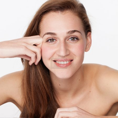 symbol of natural beauty for spa, teeth clinic and strengthening haircare treatment