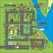 Doodle city map
