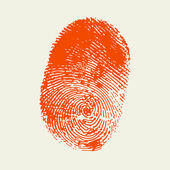 Finger print . Red color.