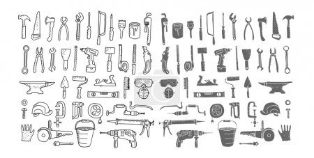 Construction tools collection.