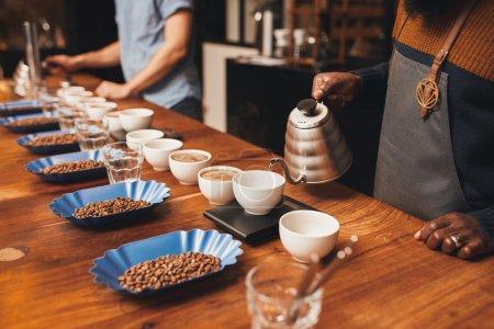 professional baristas coffee tasting