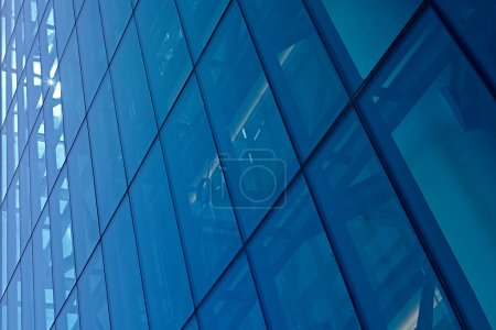 Modern building in reflective plate glass
