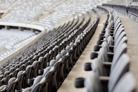 rows of seating in sports stadium