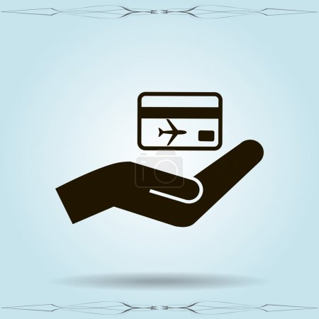 hand and ticket icon