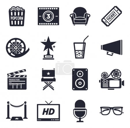 Movies and events icons