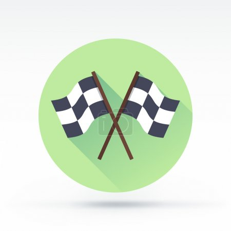 Finishing flags vector icon