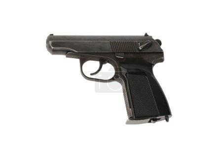 Makarov pistol on a white background