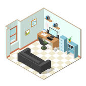 Working from home isometric vector