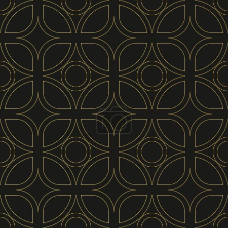 Art Deco seamless vintage wallpaper pattern. Geometric decorativ