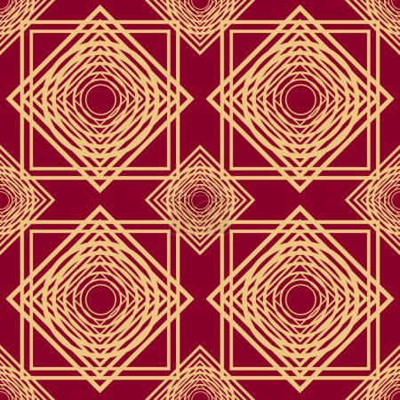 seamless pattern with abstract geometric pattern in art deco sty