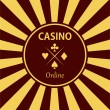 Постер, плакат: Casino design elements vector icons Casino games Ace playing c