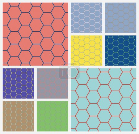 hexagonal cellcolorful background