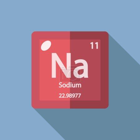 Chemical element Sodium. Flat design style modern ...