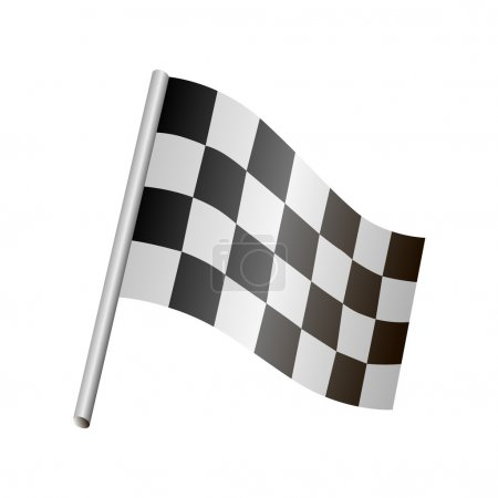Vector Racing flag vector illustration