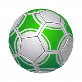Zelený fotbalový míč izolovaných na bílém pozadí