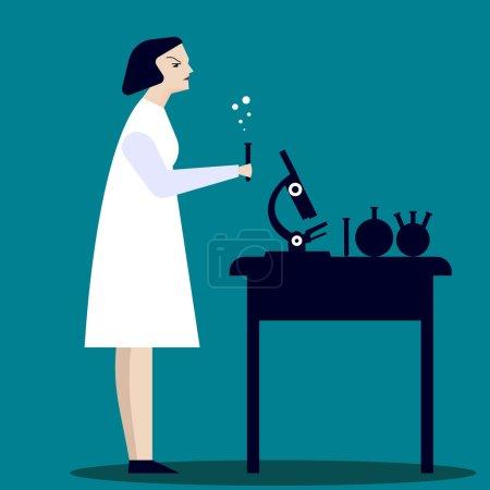 Woman Laboratory researcher.