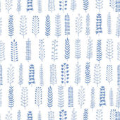 Floral seamless pattern Different branches