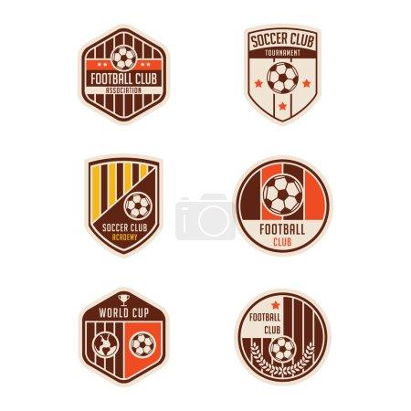 Set of Soccer Football Badge Logo Design Templates
