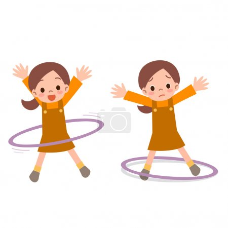 Girl to the hula hoop