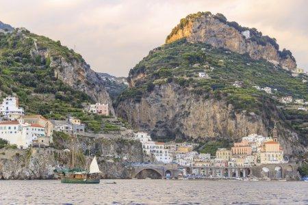 Italy seascape:Amalfi Coast (Costiera Amalfitana).
