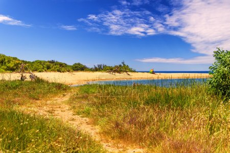 SUMMER LANDSCAPE.Ionian coast of Salento:Porto Cesareo:Nature Reserve Isola Grande (Lecce).- ITALY (Apulia)