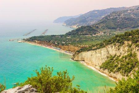 Gargano coast: Mattinatella or Fontana delle Rose beach.MATTINATA (Apulia) - ITALY-