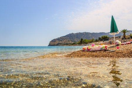 SUMMERTIME. Gargano coast: Piana di Mattinata  beach .MATTINATA  (Apulia) - ITALY-