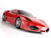 červené sportovní auto na bílém pozadí