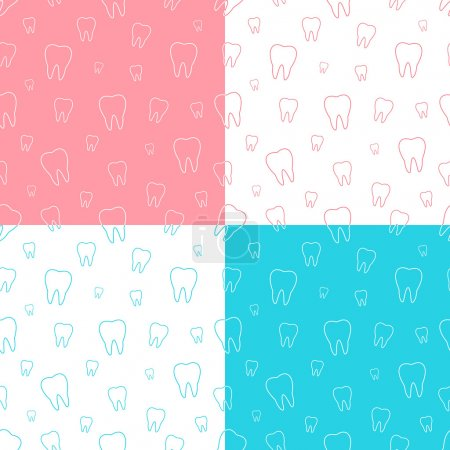 Seamless patterns of tooth