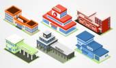 Isometric city departments