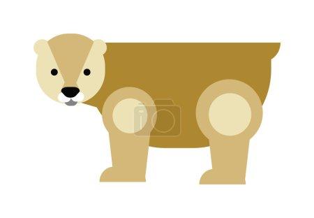 Cartoon polar bear vector illustration.