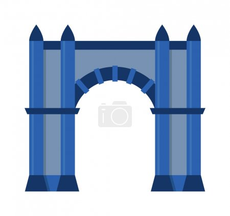 Arch vector isolated on white
