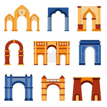 Arch vector set.