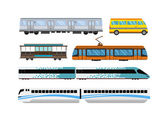 City transport set vector illustration