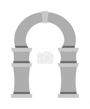 Arch vector icon isolated