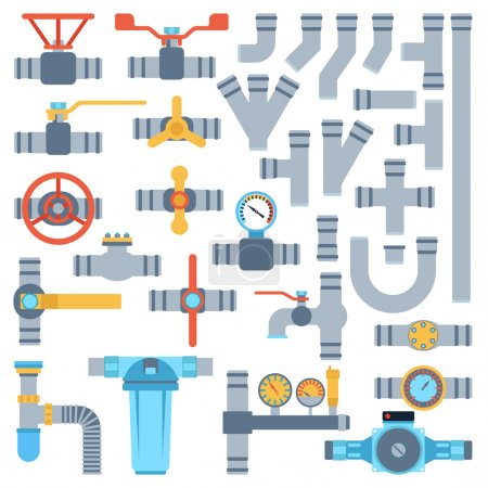 Pipes vector set.