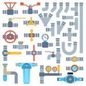 pipes vector set