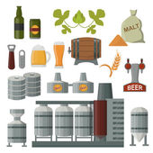 Beer production vector set