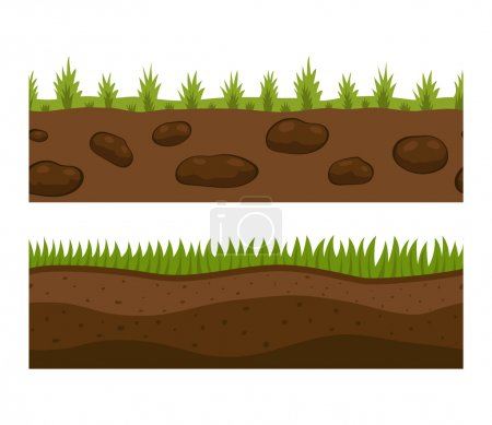 Ground slices vector