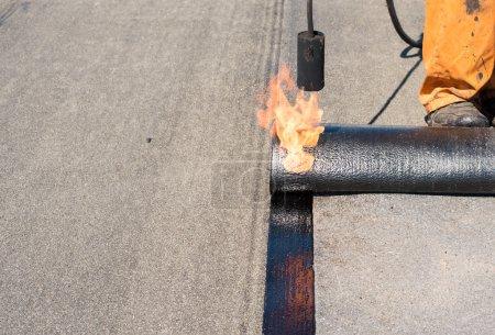 Professional installation of waterproofing