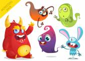 Cartoon Monsters Vector set of cartoon monsters isolated