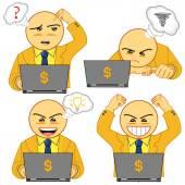 Vector illustration of businessman icon 02