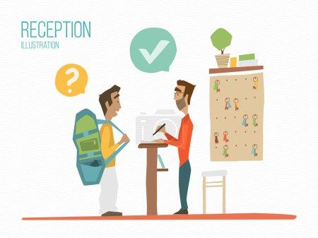 Reception color illustration